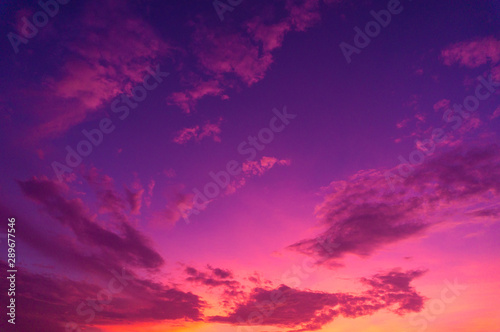 Wall Murals Candy pink Beautiful clouds sky. Sunset sky. Gradient Sky pink and purple.jpg