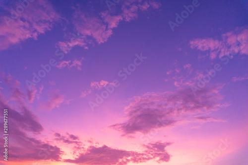Poster Prune Beautiful clouds sky. Sunset sky. Gradient Sky pink and purple.jpg