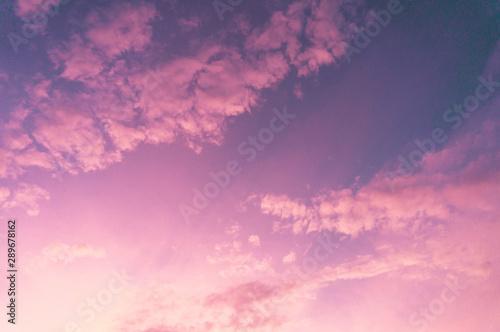 Foto auf Leinwand Rosa Lovey Beautiful clouds sky. Sunset sky. Gradient Sky pink and purple.jpg
