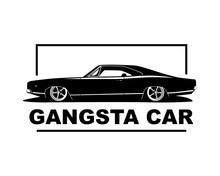 American Muscle Car Vector Ill...
