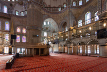 Sultan Ahmed Mosque Interior, ...