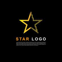 Creative Orange Star Logo Design Template. Clean Star Logo.