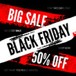 Black Friday sale background. Vector illustration