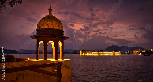 View of Heritage Resort, Lake Palace, Udaipur, Rajasthan, India Wallpaper Mural