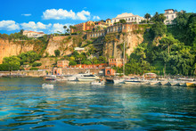 Harbour And Port In Sorrento. Campania, Italy