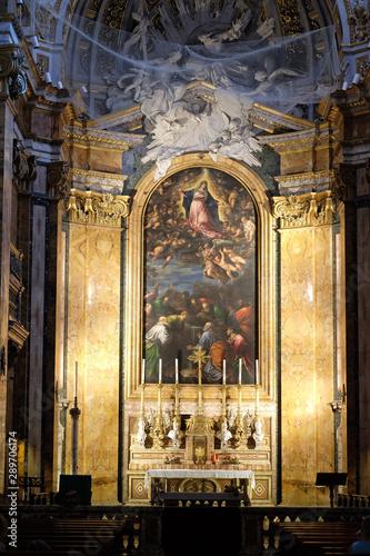 Altar of Chiesa di San Luigi dei Francesi - Church of St Louis of the French, Ro Tableau sur Toile