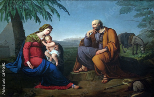 Holy Family, altarpiece in the Basilica of Saint Frediano, Lucca, Tuscany, Italy Fototapete