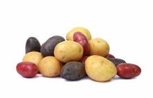 Pommes De Terre Jaunes, Rouges Et Noires