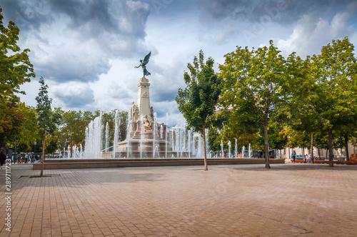 Place de la République à Dijon Fototapet