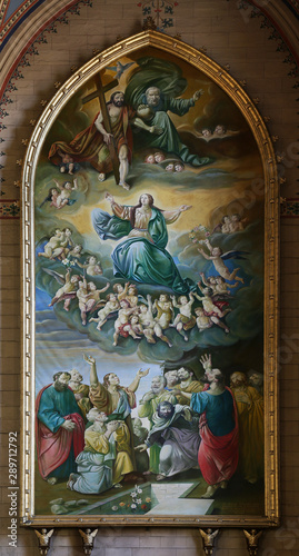 Assumption of the Blessed Virgin Mary, altarpiece in Zagreb cathedral Fototapet