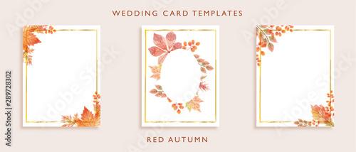 Fotografía  Elegant wedding card templates design