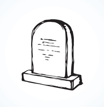 Tomb. Vector Drawing