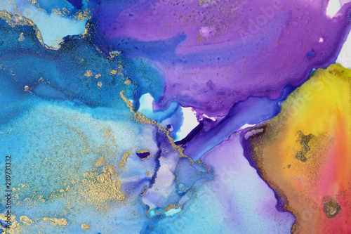 Acrylic, watercolor, ink colors blots. Abstract background. Marble texture.