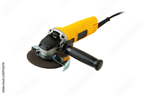 angle grinder on white background Fototapet
