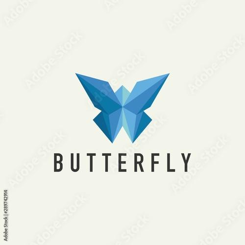 Fototapeta  Geometric Butterfly Logo - Vector Design