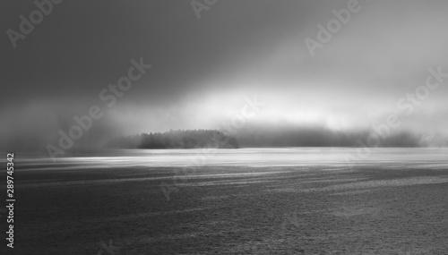Foto auf AluDibond Dunkelgrau mysterious island