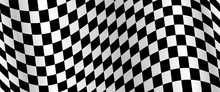 Banner, Race Flag Background, Checkered Flag, Car Racing Sport, Checkerboard – Vector
