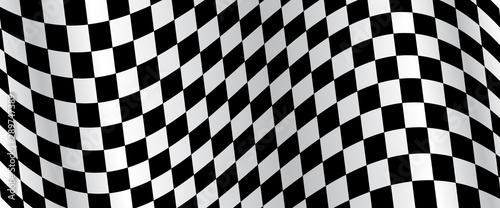 Obraz na plátně Banner, race flag background, checkered flag, car racing sport, checkerboard – v