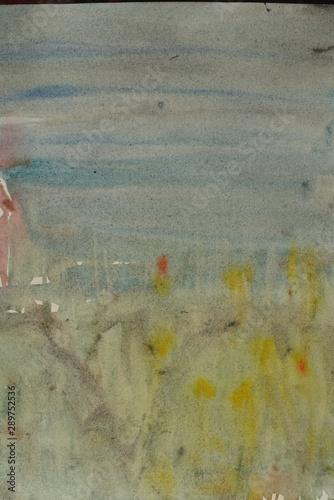 Türaufkleber Darknightsky Illustration of a landscape in vertical