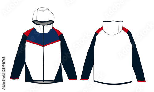 windbreaker jacket design vector template Wallpaper Mural