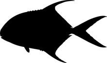 Permit Fish Silhouette Vector