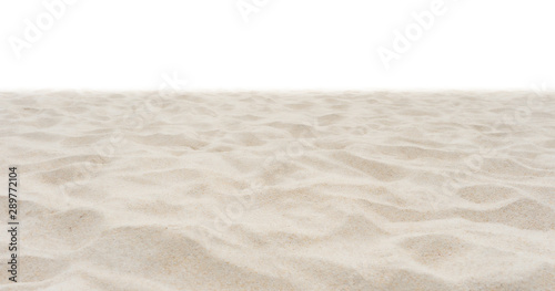 Beach sand in nature on white background. - 289772104