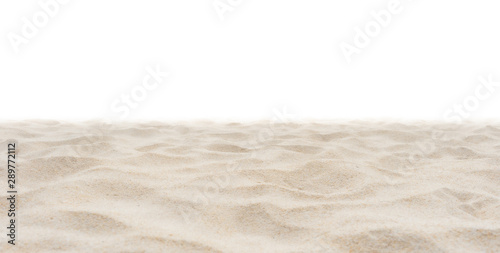 Beach sand in nature on white background. Wallpaper Mural