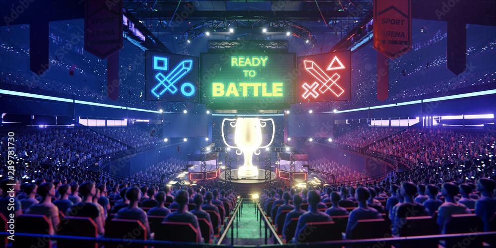 Fototapety, obrazy: The E-sport arena, 3d scene rendering