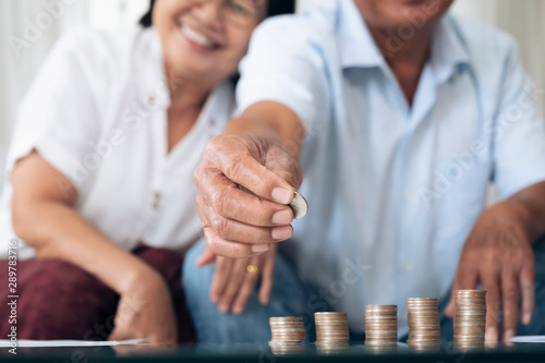 Fotomural  Retirement saving planning.