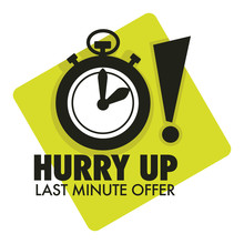 Timer Countdown, Last Minute Offer, Hurry Up Isolated Icon