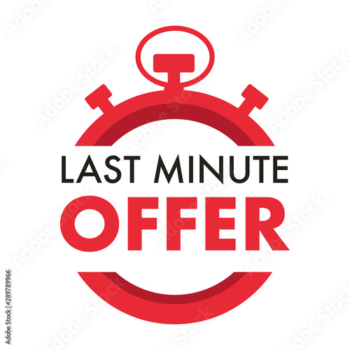 Fotomural  Last minute offer isolated icon, timer or stopwatch