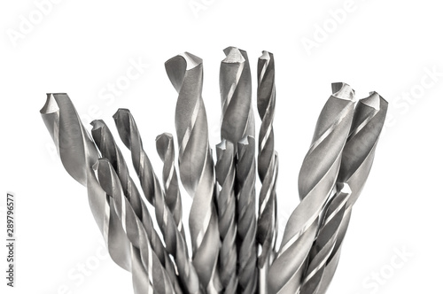 Carta da parati Drill bits isolated on a white background.