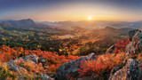 Fototapeta  - Mountain autumn landscape with colorful forest