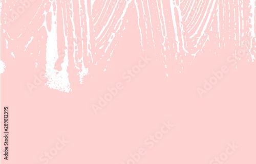 Obraz na plátně  Grunge texture. Distress pink rough trace. Flawles