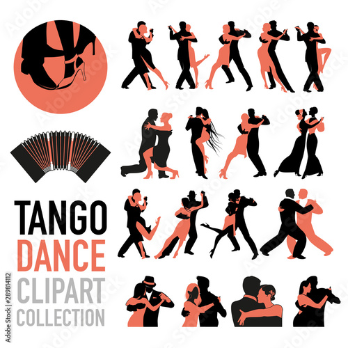 Tango dance clipart collection Wallpaper Mural