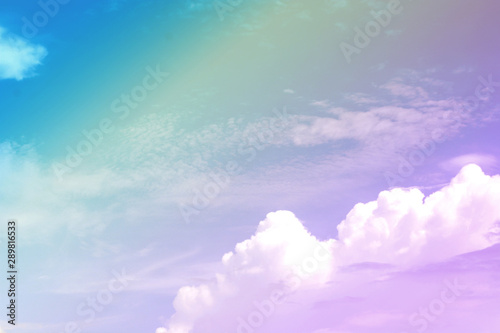 Foto auf Leinwand Flieder Many colorful pastel sky background