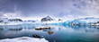 Panorama of the Smeerenburg glacier Svalbard