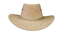 Brown Cowboy Hat  Front  White Background