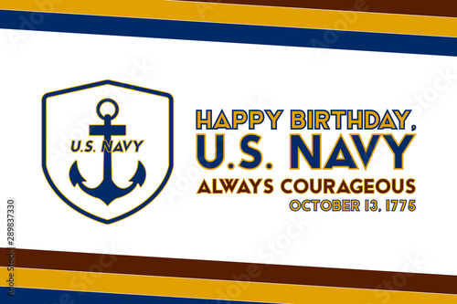 Fototapeta  The United States Navy birthday on October 13th, officially recognized date of U