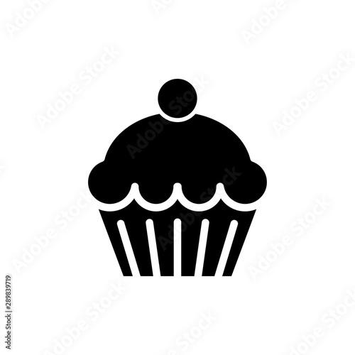 Photo  cupcake icon trendy