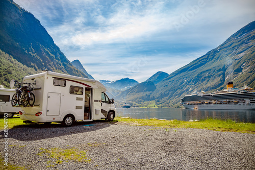 Geiranger fjord, Norway Fotobehang