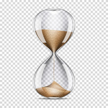 Realistic Transparent Hourglas...