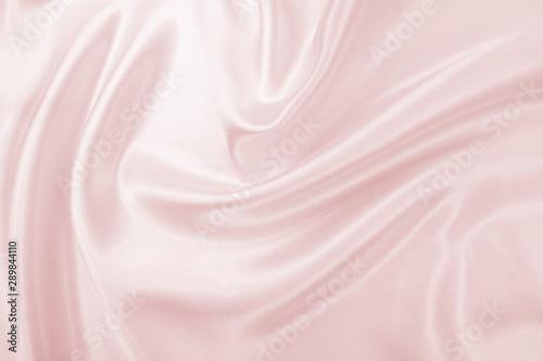 Fotografie, Obraz  Delicate satin draped fabric pink texture for festive backgrounds