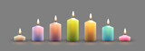 Color Burning Candles