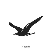 Seagull Icon. Seagull Icon Vector. Linear Style Sign For Mobile Concept And Web Design. Seagull Symbol Illustration.