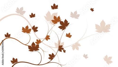 sfondo, ramo, foglie, autunno, Obraz na płótnie