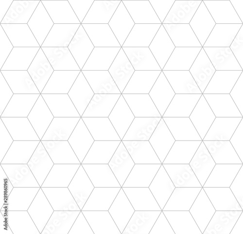 vector-seamless-cubic-pattern-modern-thin-hexagon-grid-texture
