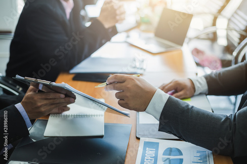 Fototapeta Business groups meeting of the Company, business valuation, revenue and business growth. obraz