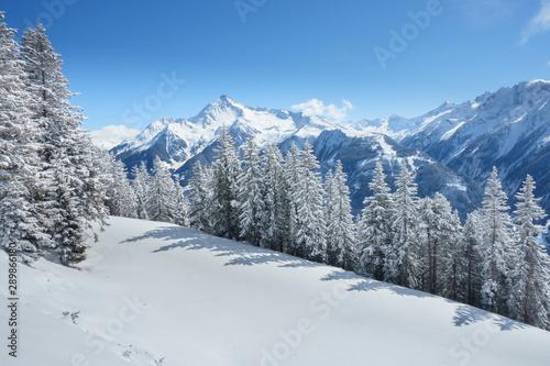 obraz lub plakat Winterlandschaft in den österreichischen Alpen