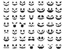 Halloween Face Icon Set. Spook...